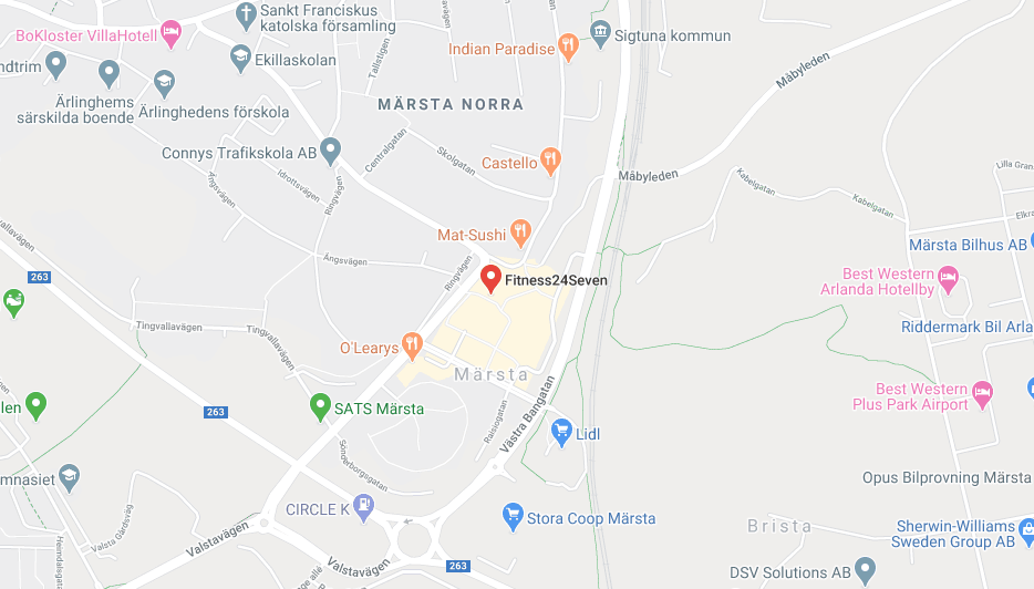 Karta Fitness24Seven Märsta Centrum