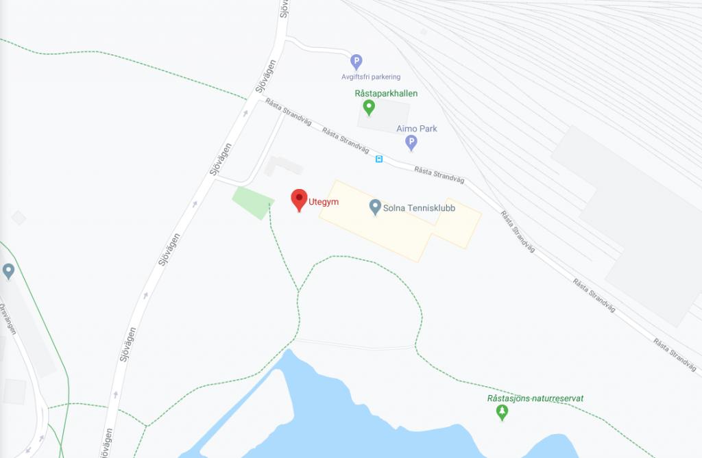 Karta Råstasjöns utegym